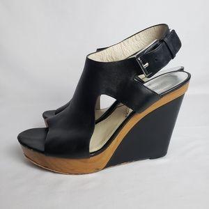 Michael Kors Josephine Leather Wedge Size 1